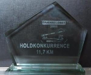 Pokal holdvinder grænseløbet 2015